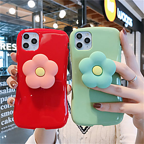 cheap iPhone Cases-Case For Apple iPhone 11  11 Pro 11 Pro Max Xiaoman waist big red bean green Small daisy stand Gloss Solid TPU material  scratch proof phone case