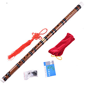 cheap Wind Instruments-Flute C D E F G Handmade Chinese Style Single Row Bamboo Two-section Musical Instrument for Beginner Music Lovers