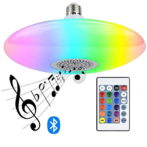 cheap LED Cabinet Lights-Bluetooth Music Bulb RGBW High-power 30W UFO Lamp Bluetooth Music UFO Lamp Intelligent 16-color Bulb