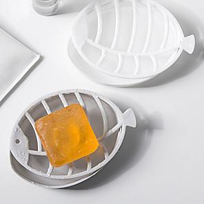 cheap Bathroom Gadgets-Fish Shaped Double Soap Box Bathroom Plastic Drain Soap Holder Toilet Soap Holder Soap Box