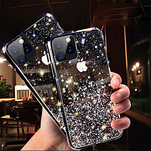 cheap iPhone Cases-Case For Apple iPhone 11 / iPhone 11 Pro / iPhone 11 Pro Max Glitter Shine Back Cover sky TPU