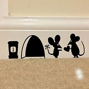 povoljno Zidne naljepnice-llittle miš zidne naljepnice ravni zidne naljepnice ukrasne zidne naljepnice pvc ukras za dom zidne ukrase zid / prozor ukras 10 * 29cm