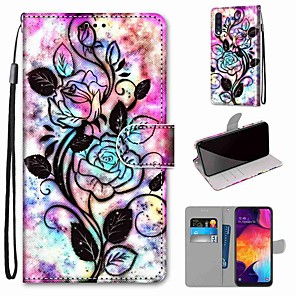 cheap Samsung Case-Case For Samsung Galaxy S20 / S20 Plus / S20 Ultra Wallet / Card Holder / with Stand Full Body Cases Hollow Flower PU Leather / TPU for A51 / A71 / A81 / A91 / A01 / A21 / A50(2019) / A30s(2019)