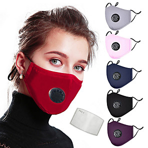 cheap Protective Gear-2pcs Sports Mask Dust Proof Durable Protection Antivirus Convenient Bike / Cycling Purple Winter for Unisex Cycling / Bike Everyday Use Working Traveling Outdoor Print 2pcs 1 Piece / Polyester