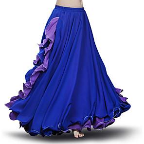 cheap Ballroom Dancewear-Ballroom Dance Skirts Cascading Ruffles Ruching Women's Performance Sleeveless Chiffon
