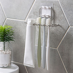 cheap Bathroom Gadgets-Stainless Steel Toothbrush Holder Shaver Storage Rack Tooth Brush Shelf Toothpaste Holder Rack Bathroom Organizer Accessories
