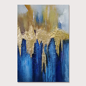 cheap Abstract Paintings-Mintura Hand Painted Abstract Golden Oil Paintings on Canvas Modern Wall Picture Pop Art Posters For Home Decoration Ready To Hang