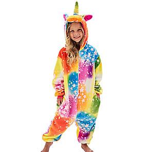 cheap Kigurumi Pajamas-Kid's Kigurumi Pajamas Flying Horse Onesie Pajamas Flannel Fabric Purple / Yellow / Red Cosplay For Boys and Girls Animal Sleepwear Cartoon Festival / Holiday Costumes
