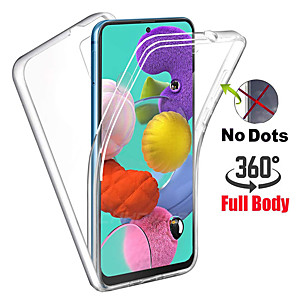 cheap Samsung Case-360 Degree Full Body Case For Samsung Galaxy S20 Ultra S10 Plus A51 A91 A81 A71 S10e S8 S9 Plus A70 A50 A40 A30 A20 A10 A20e A7 2018 A6 A8 Plus 2018 Transparent PC Silicone Thin Gel TPU Soft Cover