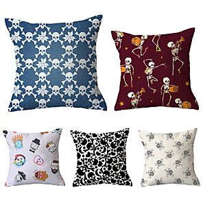 cheap Pillow Covers-5 pcs Throw Pillow Simple Classic 45*45 cm Velvet Pillow Cover Floral Art Deco Geometic Artistic Modern Contemporary