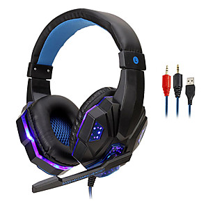 cheap On-ear & Over-ear Headphones-LITBest 830 Gaming Headset Wired with Microphone with Volume Control for Gaming