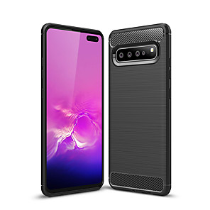 cheap Samsung Case-Naxtop Carbon Fiber Brushed Soft Bumper Back Cover Full Protective Phone Case For Samsung Galaxy S8 S9 S10 Plus S10e