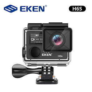 cheap Sports Action Cameras-EKEN H6s 4K Ultra HD 14MP with EIS Remote Sport Camcorder Ambarella A12 Chip Wifi 30m Waterproof Panasonic Sensor Action Camera