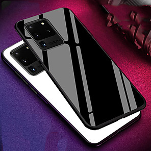 cheap Samsung Case-Case For Samsung Galaxy S20 S20 Plus S20 Ultra Back Cover Solid Colored Tempered Glass S10 S10 Plus S10E S9 S9 Plus