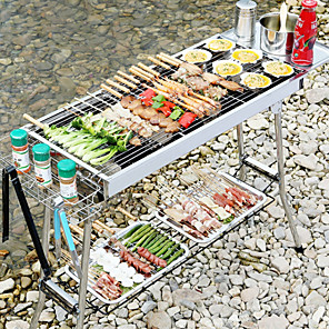 cheap Laptops-Standi Stainless Steel Barbecue Portable Folding Charcoal Barbecue Outdoor Bbq Barbecue