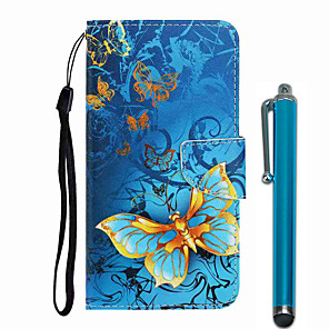 cheap Samsung Case-Case For Samsung Galaxy Galaxy S10 / Galaxy S10 Plus / Galaxy S10 E Wallet / Card Holder / with Stand Full Body Cases Butterfly PU Leather / TPU