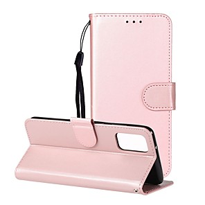 cheap Samsung Case-Case For Samsung Galaxy A10/Galaxy A30/Galaxy A50 Wallet / Card Holder / with Stand Full Body Cases Solid Colored PU Leather For Galaxy A20/A20E/A40/A70/A51/A71/S20/S20 Plus/S20 Ultra/Note 10 Plus