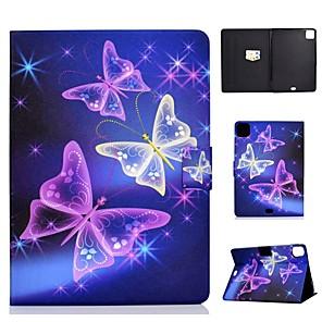 cheap iPad case-Case For Apple iPad Air/iPad Mini 3/2/1/4/5 Card Holder / Flip / Pattern Full Body Cases Butterfly PU Leather For iPad Air 10.5 2019/iPad 10.2/Pro 11 2020/iPad 2017/iPad 2018