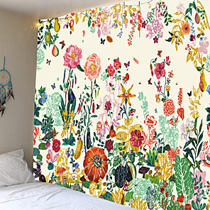 cheap Abstract Paintings-Beautiful flower bed personality tapestry or background cloth or decorative cloth