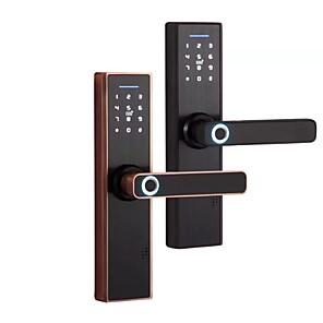 billige Dørlås-sinklegeringslås / intelligent lås / kortsperre smarthemmesikkerhetssystem rfid / passordlåsing / mekanisk nøkkel som låser opp husholdning / hjem / hjem / kontor andre / tredør / komposittdør
