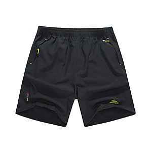 """cheap Hiking Trousers & Shorts-Men's Hiking Shorts Solid Color Summer Outdoor 10"""" Loose Breathable Quick Dry Ventilation Ultra Light (UL) Spandex Shorts Bottoms Black Army Green Dark Blue Camping / Hiking Hunting Fishing L XL XXL"""