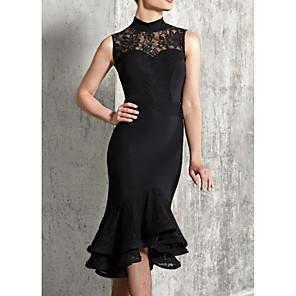 cheap Latin Dancewear-Latin Dance Dress Ruffles Women's Performance Sleeveless Polyester Taffeta