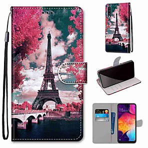 cheap Samsung Case-Case For Samsung Galaxy S20 / S20 Plus / S20 Ultra Wallet / Card Holder / with Stand Eiffel Tower PU Leather / TPU for A51 / A71 / A81 / A91 / A01 / A21 / A50(2019) / A30s(2019) / A30(2019)