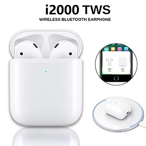 cheap Wired Earbuds-LITBest i2000 TWS True Wireless Earbuds Wireless Bluetooth 5.0 Stereo with Microphone with Charging Box for Travel Entertainment