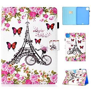 cheap iPad case-Case For Apple iPad Air/iPad Mini 3/2/1/4/5 Card Holder / Flip / Pattern Full Body Cases Eiffel Tower PU Leather For iPad Air 10.5 2019/iPad 10.2/Pro 11 2020/iPad 2017/iPad 2018