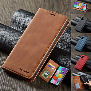 cheap Samsung Case-Luxury Magnetic Wallet Flip Leather Case For Samsung Galaxy S20 Ultra A51 A71 A91 A81 A21 A01 A70E S10 Plus 5G S8 S9 Plus S7 Edge A80 A70 A60 A50 A40 A30 A20e A10 A6 A8 A7 2018 Card Stand Cover
