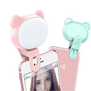 cheap Ring light-2pcs Mobile Phone Fill Light TikTok Youtube Video Self-Timer Cat Bear Live Led Mini Light LED Night Light 3 Modes Dimmable USB