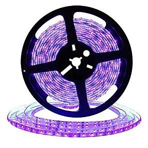 cheap LED Strip Lights-16.4FT 5M LED Light Strips Flexible Tiktok Lights UV Black Light 395-405nm 2835 8mm LED Flexible Strip DC12V for Indoor Fluorescent Dance Party Stage Lighting Body Paint