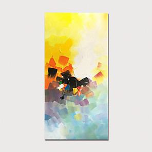 cheap Floral/Botanical Paintings-Hand Painted Canvas Oilpainting Abstract by Knife Home Decoration with Frame Painting Ready to Hang