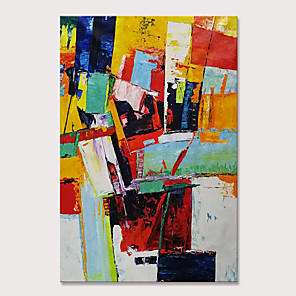 cheap Abstract Paintings-Mintura Hand Painted Abstract Oil Paintings on Canvas Modern Wall Pictures Pop Art Posters For Home Decoration Ready To Hang With Stretched Frame