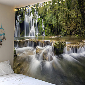 cheap Wall Tapestries-Indian Mandala Tapijt Muur Opknoping Waterval Sky Beauty Woods Papegaai Hippie Sprei Gypsy Art Decor Gooi Mandala Tapestry