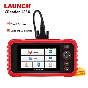 cheap OBD-Launch X431 CRP123X OBD2 Code Reader Creader 123X Car Scanner ENG ABS SRS Transmission Car Diagnostic Tool Free Update pk CRP123