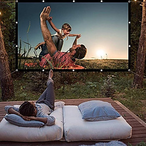 cheap Projectors-120 Inch Projector Screen 169 HD Foldable Portable Anti-crease Projector Movies Screen for Home Theater