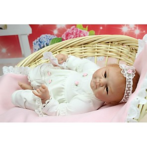cheap Reborn Doll-NPK DOLL Reborn Doll Baby Newborn lifelike Cute Hand Made Child Safe with Clothes and Accessories for Girls' Birthday and Festival Gifts / Non Toxic / Lovely / CE Certified / Kid's