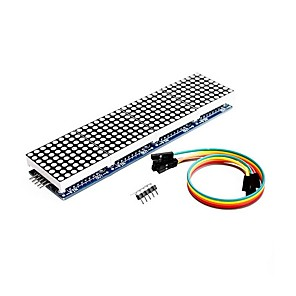 cheap Table Lamps-MAX7219 Dot Matrix Module 4 in 1 Display for Arduino Microcontroller with 5Pin Line