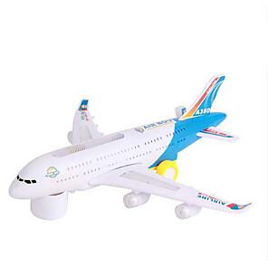 cheap Toy Trains & Train Sets-Toy Airplane Model Building Kit Plane Plane / Aircraft Walking Electric Soft Plastic Kid's Boys' Girls' Toy Gift 1 pcs