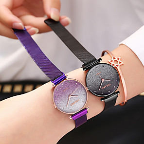 cheap Quartz Watches-Ladies Quartz Watches Cubic Zirconia Elegant Fashion Blue Silver Red Alloy Chinese Quartz Rose Gold Purple Red Casual Watch Imitation Diamond 1 pc Analog One Year Battery Life