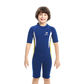 cheap Wetsuits, Diving Suits & Rash Guard Shirts-ZCCO Boys' Shorty Wetsuit 2.5mm SCR Neoprene Diving Suit Short Sleeve Back Zip Solid Colored / High Elasticity / Kids