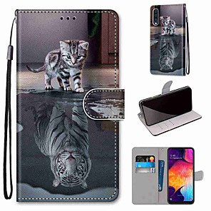 cheap Samsung Case-Case For Samsung Galaxy S20 / S20 Plus / S20 Ultra Wallet / Card Holder / with Stand Full Body Cases Cat Becomes Tiger PU Leather / TPU for A51 / A71 / A81 / A91 / A01 / A21 / A50(2019) / A30s(2019)