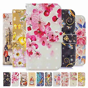 cheap Samsung Case-Case For Xiaomi Redmi Note 8 / Redmi Note 8 Pro / Redmi Note 7 Pro Wallet / Card Holder / with Stand Full Body Cases Butterfly / Flower PU Leather / TPU for Redmi 8 / Redmi 8A