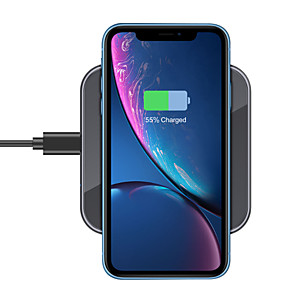 cheap Charger Kit-15/10/7.5/5 W Wireless Charger USB Charger USB LED Lights / with Cable / Multi-Output 1 USB Port 2 A / 1 A / 1.67 A DC 12V / DC 9V / DC 5V for Apple Watch Series 3 / Apple Watch Series 2 / Apple