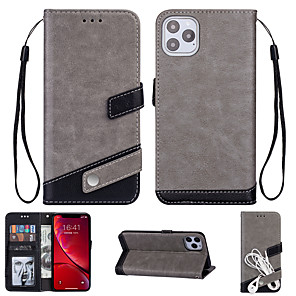 cheap iPhone Cases-Case For Apple iPhone 11 / iPhone 11 Pro / iPhone 11 Pro Max Card Holder / Shockproof Back Cover Tile PU Leather / TPU