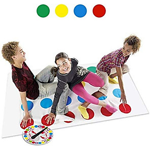 cheap 3D Puzzles-1 pcs Board Game Twister Game Educational Toy Plastic Professional Party Novelty Parent-Child Interaction Kid's Adults' Boys' Girls' Toys Gifts / Family Interaction