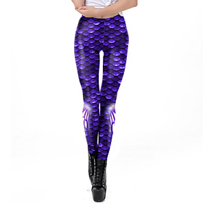 cheap Movie & TV Theme Costumes-Mermaid Pants Women's Movie Cosplay Mermaid Purple / Blue Pants Masquerade Terylene Elastane