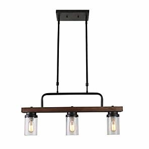 cheap Pendant Lights-3-Light 12 cm Island Design Pendant Light Metal Glass Mini Painted Finishes Vintage / Country 110-120V / 220-240V
