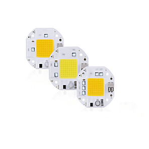 cheap LED Spot Lights-High Power 100W 70W 50W COB LED Chip 220V 110V LED COB Chip Welding Free Diode for Spotlight Floodlight Smart IC No Need Driver